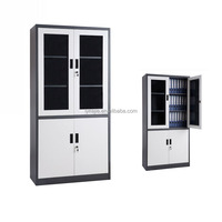 Lockable Display Glass Door Metal Body Steel Filing Cabinet Medicine File Cabinet for Office and Hospital