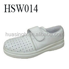SY,Upper holes breathable slip resistant white sanitary ESD cleanroom shoes easy wearing