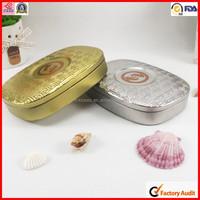 dongguan oval shape tea tin storage box