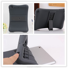 Fashion 2015 Rubber Silicone Shockproof Kickstand Case For ipad mini 1 2 3