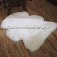 Single pelt lambskin rug for Sale, wool length 55-75mm, top-grade Australian sheepskin,