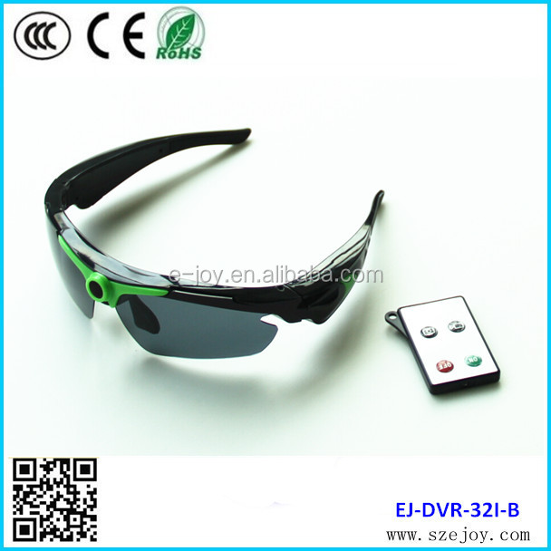 Hot sale EJ-DVR-32I Remote control HD 720P sports sunglasses
