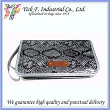 Elegant Shiny Useful Snake Pattern Glitter PVC Makeup-Brush Bag Box