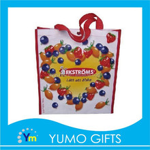 Wenzhou printing city made recycled laminated pp woven bag for fruits