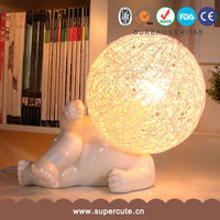 New arrived white bone china traditional table lamps for living room
