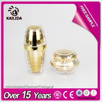 Bright golden color Ningbo factory acrylic lotion bottle