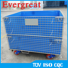 stackable metal storage cage with wheels