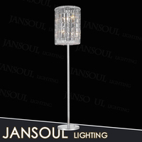 China supplier cheap classic decorative glass crystal fluorescent floor light standing lamp