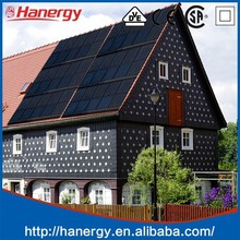Hanergy apartment/villas grid-connected home solar systems 3kw solar panels on flat roof