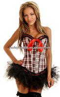 new arrival sexy satin women corset hot open hot sexy school girl costume photos
