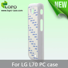 Best seller Sublimation phone case hard PC for LG L70 From shenzhen