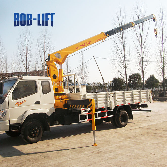Hydraulic Boom Lifts For Pickups : Ton hydraulic telescopic boom and arm truck mounted