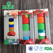 Small waterproof containers folding 3ml silicone containers alibaba express