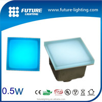 Blue floor tiles low voltage landscape led brick light tempered glass