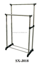 Metal Clothes Rack with Wheels, Bedroom Coat Hanger Stand for Home