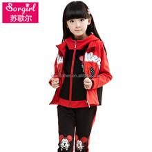 2015 nueva caliente venta de guangzhou ropa / los cabritos fabricante de ropa para niños niñas