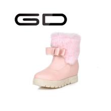 Cheap fancy warm fur snow boots for women