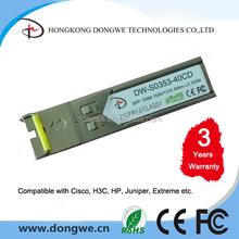 GLC-FE-100BX-D, 100Base-BX10-D Fiber Optic, 1550TX/1310RX--40km, with DDM, BiDi LC Connector SFP Module Transceiver