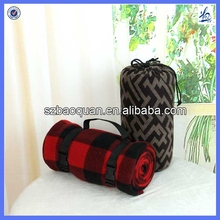 High-quality roll Up tavel Fleece blanket with carry handle