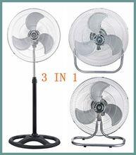 18 inch hot selling electric industrial fan 3 in 1(stand fan/wall fan/floor fan)