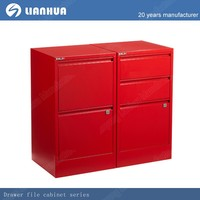 colorful haging red metal file cabinet