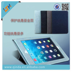 2015 Newest luxury leather smart protective case Cover For Ipad mini 4 with hand hold and wallet