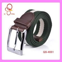 2014 High Quanlity Fashion Stripe 1.5 Inch Canvas Stripe Men Belt