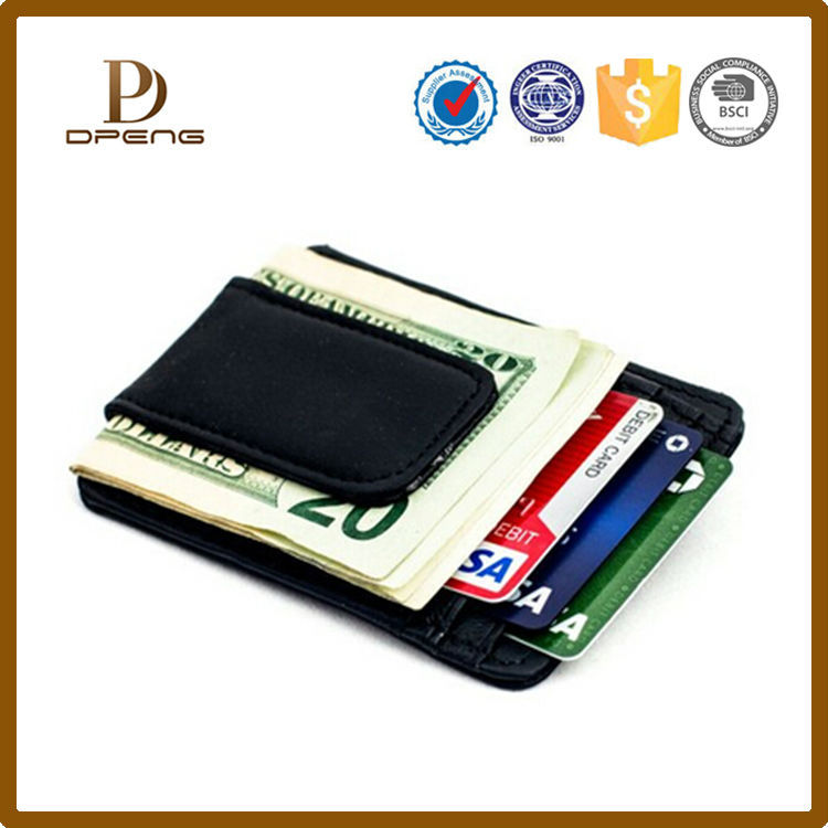 Best Seliing Business Card Holder Pu Money Clip Wholesale