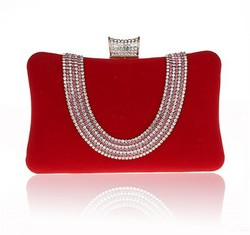 2015 Trendy crystal and rhinestone box clutch purse Fashion women vintage clutch bags