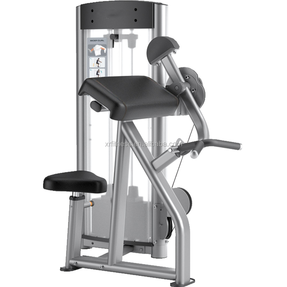 fitness bicep curl machine