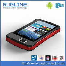 7 inch IP65 Waterproof Tablets,Android Rugged Laptop with RFID reader, barcode scanner , fingerprint