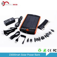 Shenzhen 23000mah solar emergency power charger for laptop