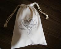 Cotton Drawstring Jewelry Bags, Custom Logo Bag