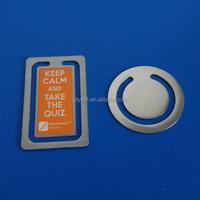 square metal book mark, custom metal bookmark