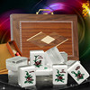 Yue Sing Chinese Mahjong Games New Stlyle Silver Glitter Mahjong Tiles