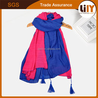 Han edition and literary spell color girls cotton and linen scarf chinese silk scarf