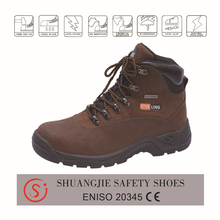 Cheap price suede leather safety shoes for man with steel toe acid&alkali resistant