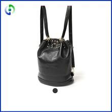 Vintage leather school backpack fashion brand schoolbag double shoulder bag