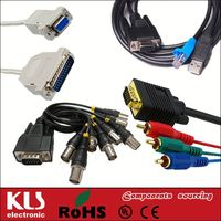 Good quality vga to tv converter s-video rca out cable adapter UL CE ROHS 325 KLS