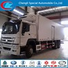 HOWO 6x4 refrigerated cargo van refrigerated cold room van truck refrigerated tank truck