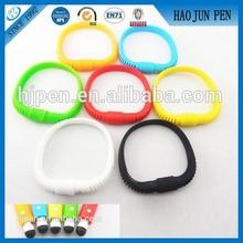 Soft Silicone Pen Bracelet shape touch pen on hot sale from pen factory