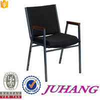 Juhang perfect stacking durable church chair church furniture used