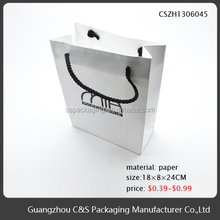 Elegant Top Quality Custom Retail Holographic Paper Gift Bag