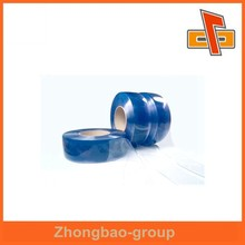 Customized heat shrink PVC film roll blue for packaging with tube