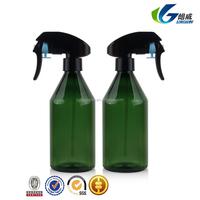300ml Cosmo round clear PET plastic spray bottle with mist sprayer