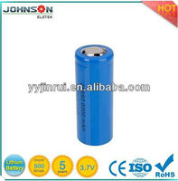 6000mah 26650 rechargeable battery 3.7v li-ion polymer battery