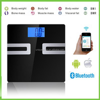 tempered glass body scale for body fat/body weight/BMI/BMR