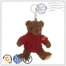 Wholesale newest promotion gifts stuffed animal keychain, keychain manufacturers, teddy bear keychain