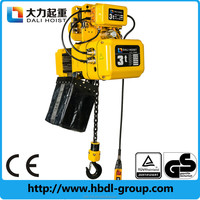 1ton electric chain hoist lifting trolley beam