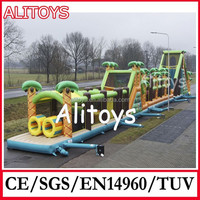 obstacle course inflatable caterpillar tunnel toys for kids